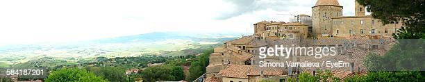 Panoramic View Of Volterra Against Sky