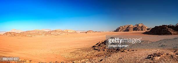 Panoramic view of Wadi Rum, Jordan
