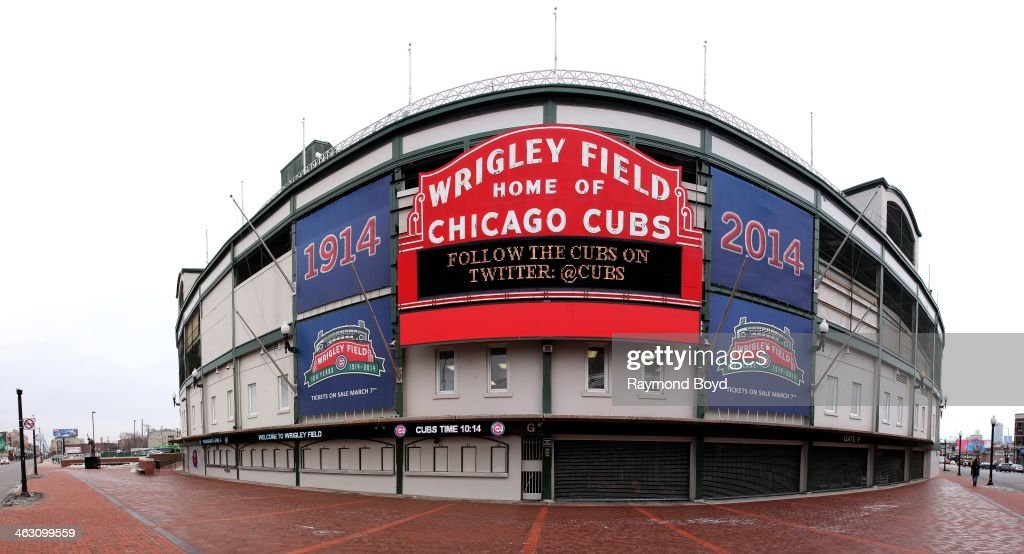 Panoramic view of Wrigley Field, home of the Chicago Cubs baseball team, who is celebrating 100 Years in baseball in Chicago, Illinois on JANUARY