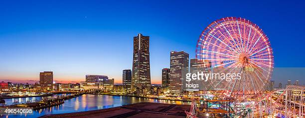 Panoramic view of Yokohama skyline