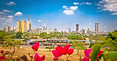 Panoramic view on Nairobi , Kenia.  Africa.