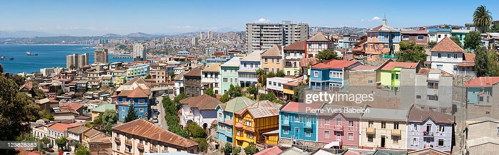 Panoramic view on Valparaiso, Chile