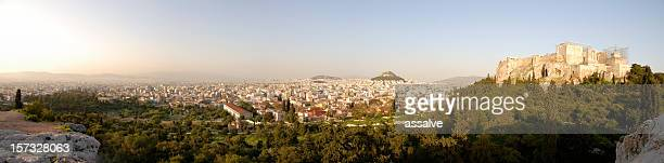 XXL Panoramic view over Athens with Acropolis and Ancient Agora