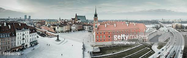 Panoramic view over Old Town in Warsaw, Poland