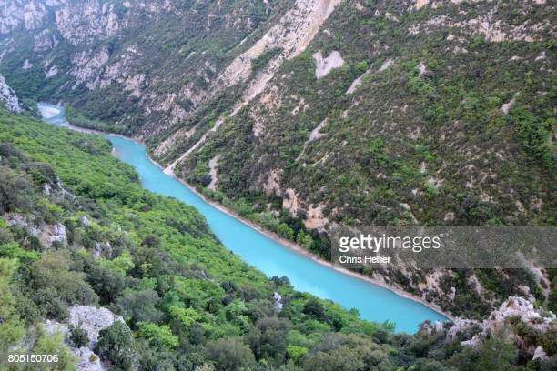Panoramic View over the Verdon Gorge and River Provence France