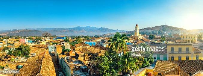Panoramic view over Trinidad, Cuba