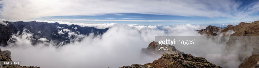 Panoramic view Roque de los Muchacos, La Palma, Spain : Stockfoto