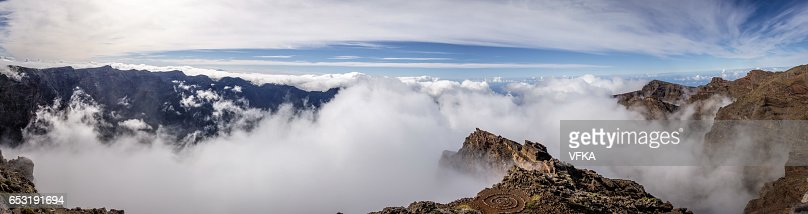 Panoramic view Roque de los Muchacos, La Palma, Spain : ストックフォト