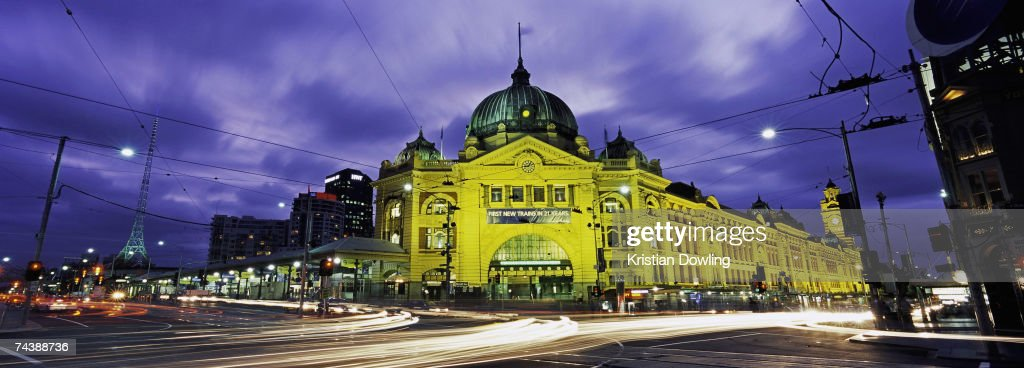 A panoramic view shows Flinders Street Station May 24 2005 in Melbourne Australia World Environment Day is marked on June 5 every year and is the...