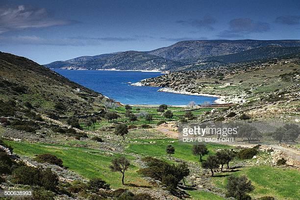 Panormos beach Naxos island Cyclades islands Greece