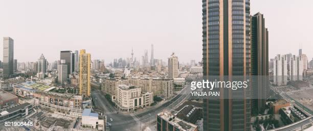 Panoroma of Shanghai Skyline