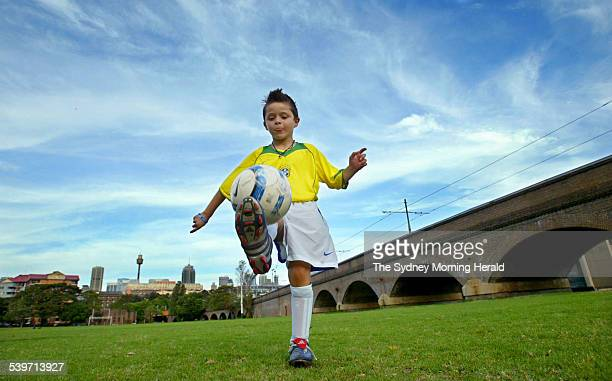 Panos Armenakas honing his football skills at Wentworth Park in Sydney Panos' talents have been noticed by major football clubs Barcelona and Bolton...