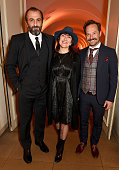 Panos Koronis Athina Rachel Tsangari and Giorgos Pyrpassopoulos attend the BFI London Film Festival Awards at Banqueting House on October 17 2015 in...