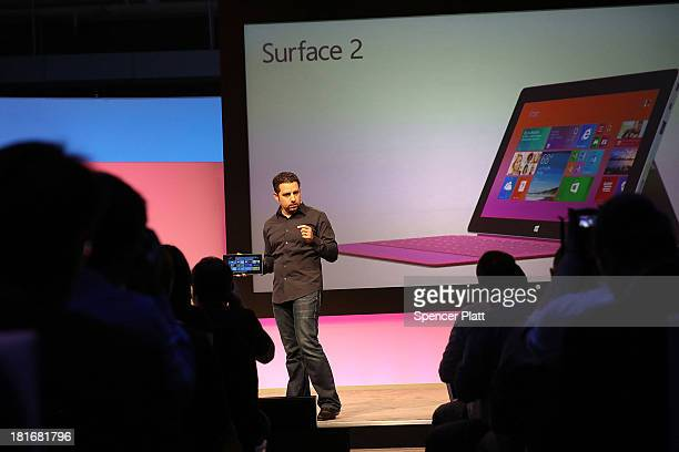Panos Panay Microsoft's VP of Surface introduces introduces a second generation of Surface tablets on September 23 2013 in New York CityThe new...