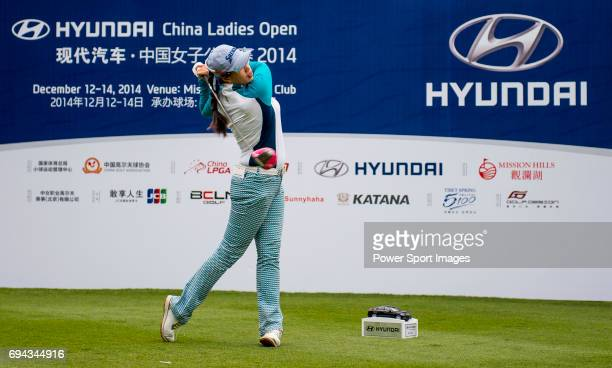 Panpan Yan of China in action during the Hyundai China Ladies Open 2014 on December 12 in Shenzhen China