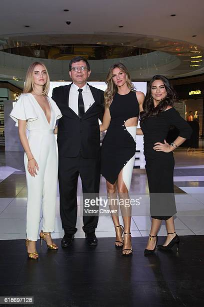 Pantene ambassadress Chiara Ferragni Procter Gamble Mexico Director Marcio Andreazzi Gisele Bundchen and Ana Brenda Contreras attend the Pantene...