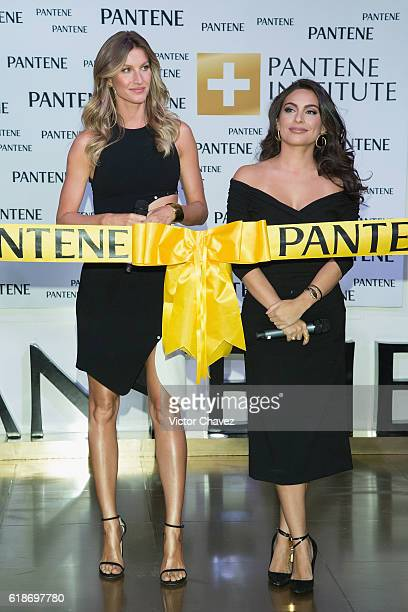 Pantene ambassadresses Gisele Bundchen and Ana Brenda Contreras attends the Pantene Institute launch at Paseo Interlomas on October 27 2016 in Mexico...