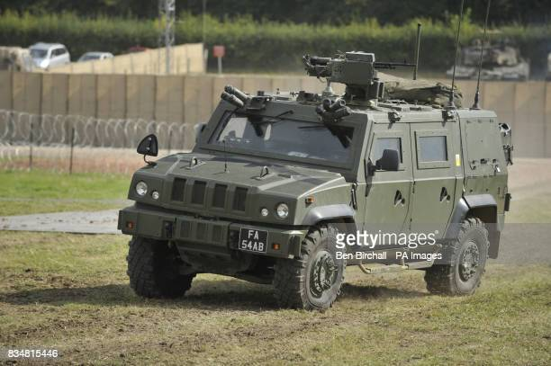 A Panther Command and Liason Vehicle equipped with a Remote Weapon Station that fires a 762mm L7 general purpose machine gun without the user getting...