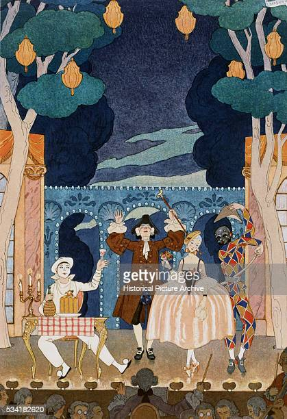 Pantomine Stage by Georges Barbier