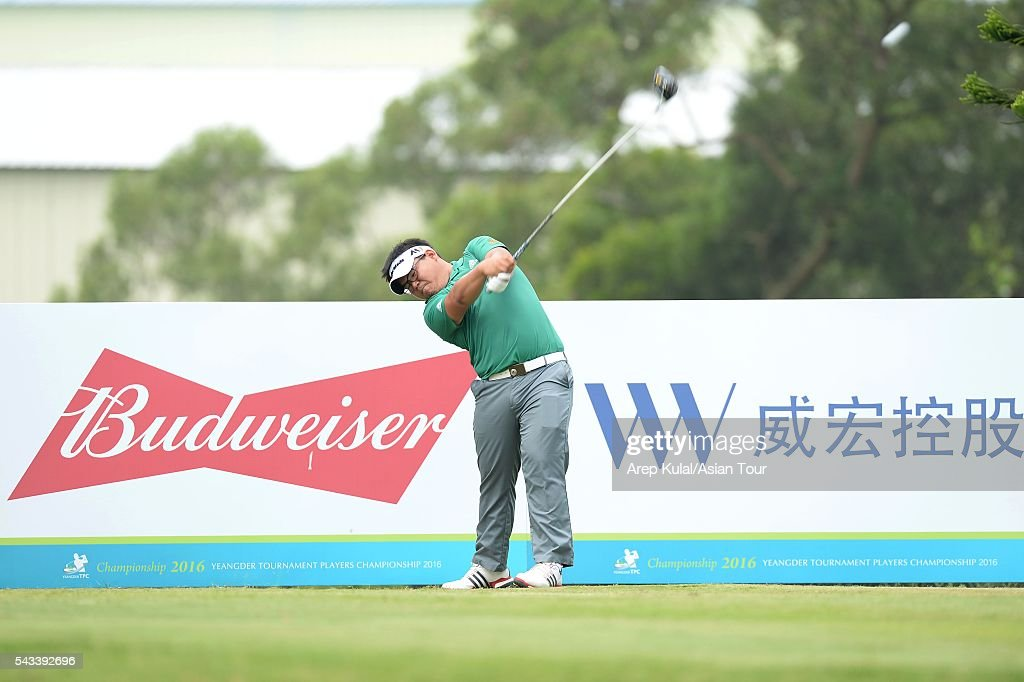 Panuphol Pittayarat of Thailand pictured during the practise round ahead of the Yeangder Tournament Players Championship at Linkou International Golf Club on June 28, 2016 in Taipei, Taiwan.