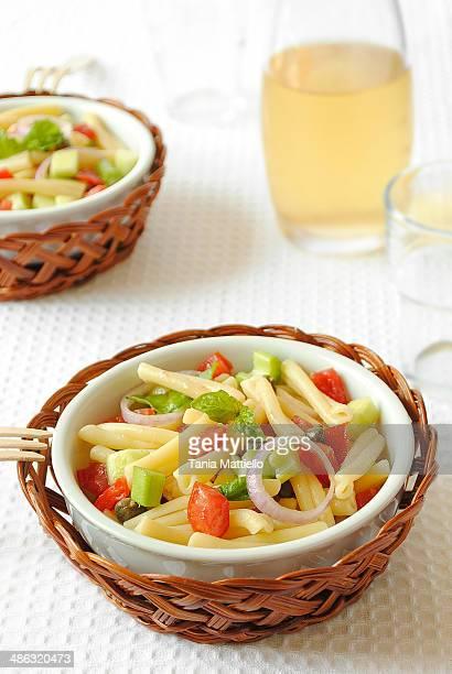 Panzanella pasta salad