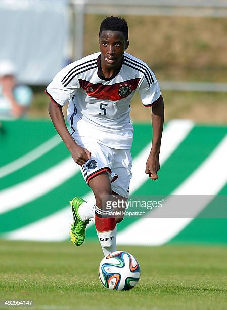 Panzu Ernesto of Germany controls the ball during the international friendly U15 match between Germany and Netherlands on May 20 2014 in Weingarten...