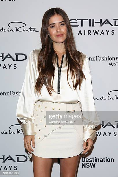 Paola Alberdi attends the Oscar de la Renta show presented by Etihad Airways at MercedesBenz Fashion Week Resort 17 Collections at Carriageworks on...
