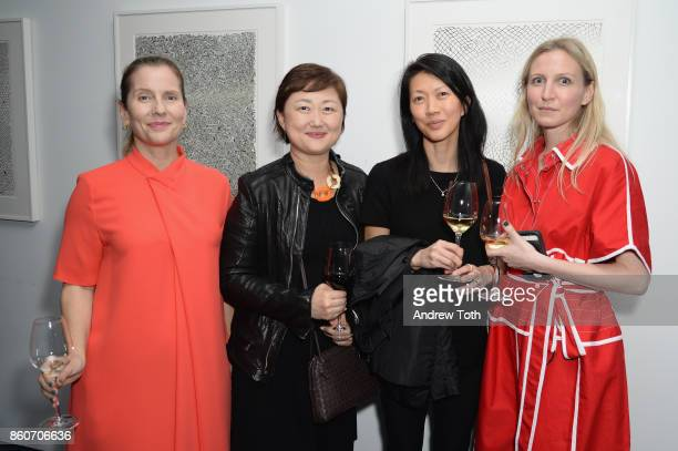 Paola Antonelli and Michelle Miller Fisher attend as Harper's BAZAAR and THE OUTNETCOM Celebrate the opening of MoMA's Fashion Exhibit 'Is Fashion...