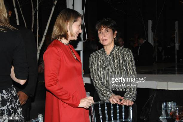 Paola Antonelli and Pilar Viladas attend EARTH AWARDS Gala at The Four Seasons on January 12 2009 in New York City