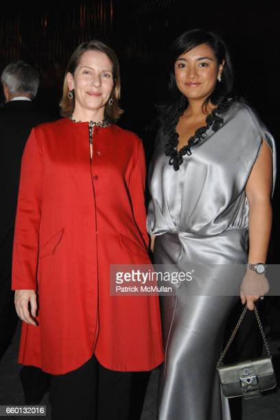 Paola Antonelli and Tunku Myra Madihah attend EARTH AWARDS Gala at The Four Seasons on January 12 2009 in New York City