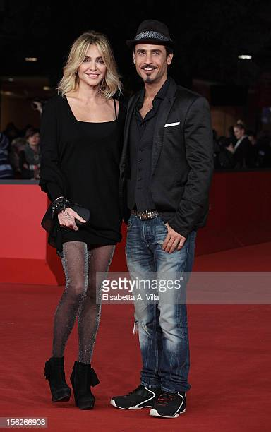 Paola Barale and actor Raz Degan attend the 'The Lookout' Premiere during the 7th Rome Film Festival at Auditorium Parco Della Musica on November 12...