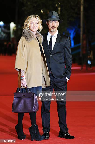 Paola Barale and Raz Degan attend the 'Dallas Buyers Club' Premiere during The 8th Rome Film Festival on November 9 2013 in Rome Italy