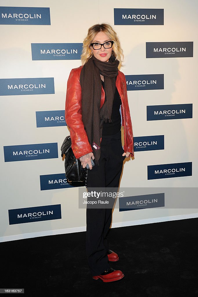 Paola Barale attends Marcolin Hosts 'Sguardi d'Atelier' Exhibition on March 5, 2013 in Milan, Italy.