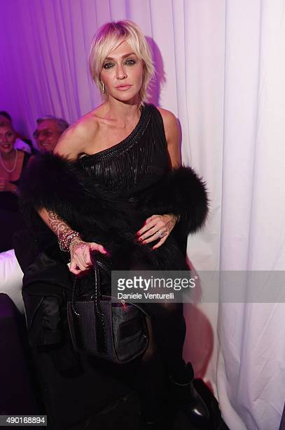 Paola Barale attends the amfAR Milano 2015 after party at La Permanente on September 26 2015 in Milan Italy
