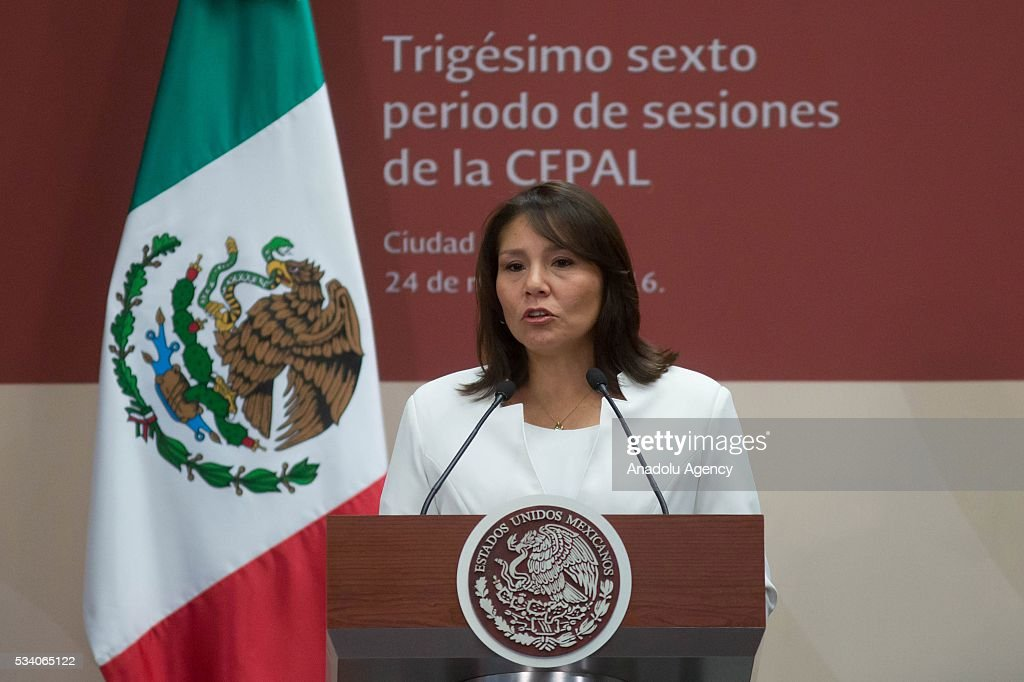 Paola Bustamante Suarez, Peru's minister of development and social inclusion, attends the opening ceremony of the Economic Commission for Latin America and the Caribbean (ECLAC), at Los Pinos presidential residence in Mexico City, Mexico on May 24, 2016. The 36th session of the commission is taking place in Mexico City from May 23-27.