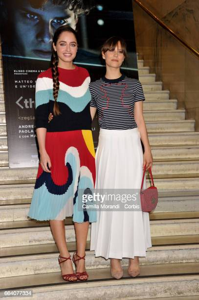 Paola Calliari and Matilde Gioli attend a photocall for 'The Startup' on April 3 2017 in Rome Italy