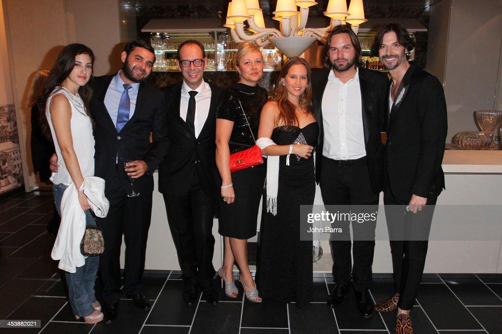 Paola Castanon, Rafael Lorenzo, Stephane Mercier, Laurence Mercier, Maria Magdalena, and Mikolaj Prada Kenny attends Fendi Casa Art Basel cocktail party on December 5, 2013 in Miami, Florida.
