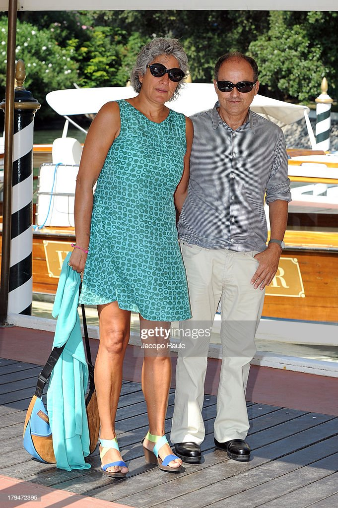 Paola Concia and director Pappi Corsicato are seen during the 70th Venice International Film Festival on September 4, 2013 in Venice, Italy.