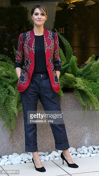 Paola Cortellesi attends a photocall for 'Qualcosa Di Nuovo' at Visconti Hotel on October 5 2016 in Rome Italy
