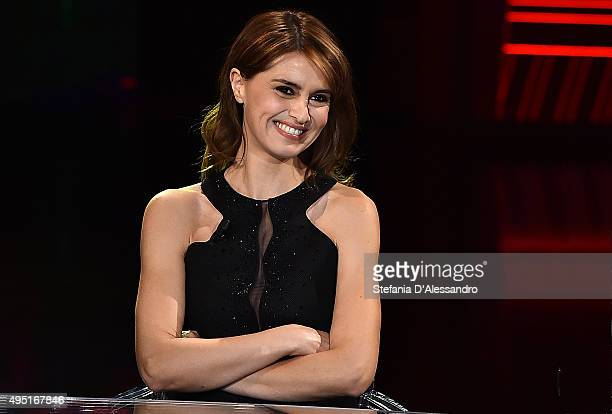 Paola Cortellesi attends 'Che Fuori Che Tempo Che Fa' Tv Show on October 31 2015 in Milan Italy