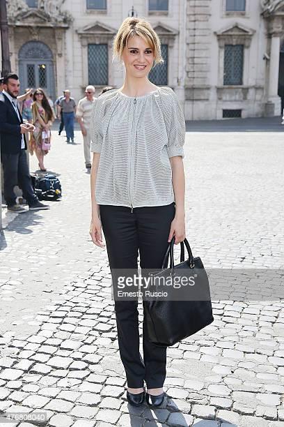Paola Cortellesi attends the '2015 David Di Donatello' Nominees at Palazzo del Quirinale on June 12 2015 in Rome Italy