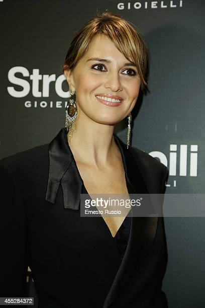 Paola Cortellesi attends the Vogue Fashion Night Out of Rome at Stroili on September 11 2014 in Rome Italy