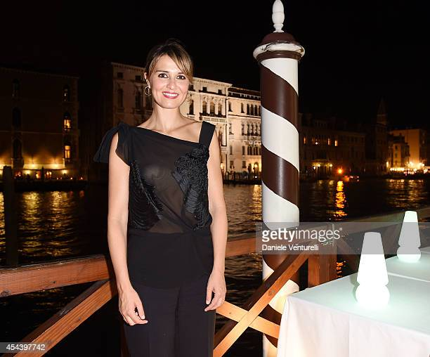 Paola Cortellesi attends Tiziana Rocca Birthday Party during the 71st Venice Film Festival at Centurion Palace Hotel on August 30 2014 in Venice Italy