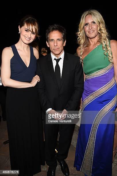 Paola Cortellesi Ben Stiller and Tiziana Rocca attend the 60th Taormina Film Fest on June 19 2014 in Taormina Italy