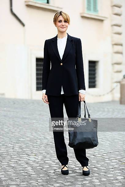 Paola Cortellesi Cortellesi attends the 60 David Di Donatello nominees presentation at Palazzo del Quirinale on April 18 2016 in Rome Italy