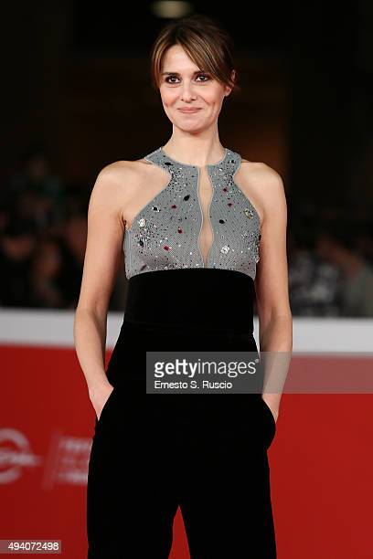 Paola Cortellesi walks the red carpet during the 10th Rome Film Fest on October 24 2015 in Rome Italy
