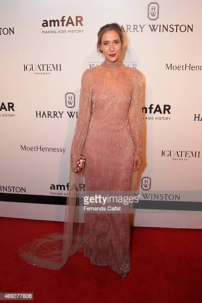 Paola de Orleana e Braganca attends the 5th Annual amfAR Inspiration Gala at the home of Dinho Diniz on April 10 2015 in Sao Paulo Brazil