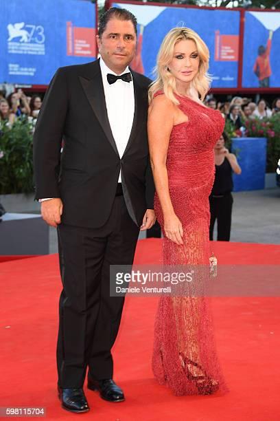 Paola Ferrari and Marco De Benedetti attend the opening ceremony and premiere of 'La La Land' during the 73rd Venice Film Festival at Sala Grande on...