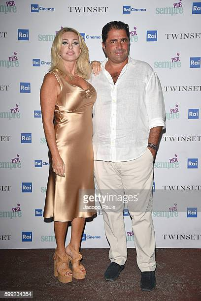 Paola Ferrari and Marco De Benedetti attend the 'Per sempre' Screening and Party Hosted By Twin Set during the 73rd Venice Film Festival at on...