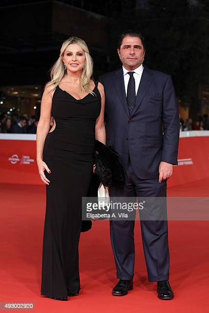 Paola Ferrari and Marco De Benedetti walk the red carpet for 'Truth' during the 10th Rome Film Fest at Auditorium Parco Della Musica on October 16...